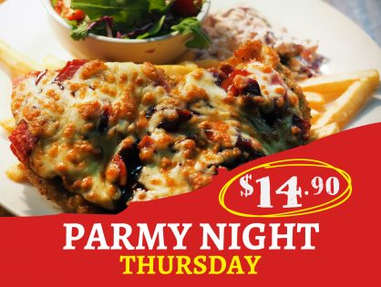 Thursday Parmy Night